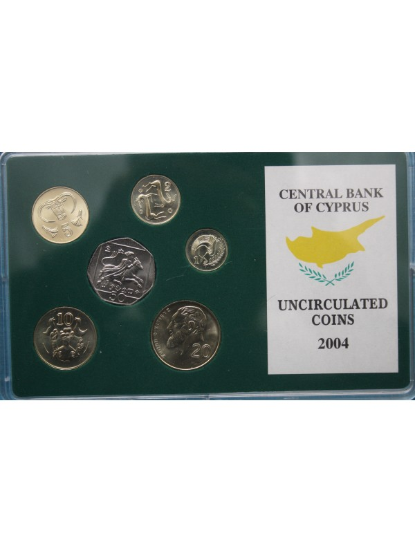 2004 Cyprus Uncirculated Coin Set