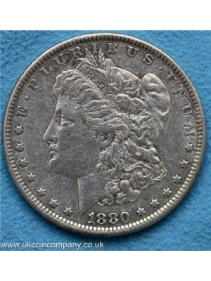 1880 american morgan silver dollar coin