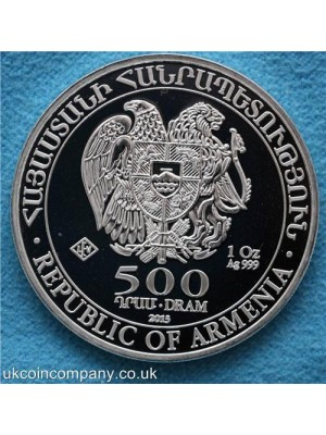 2015 armenia noahs arc 1oz silver bullion coin