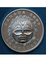 2005 Canada Silver Proof $20 Twenty Dollar Coin Summer moon Mask