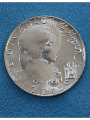 1991 Czechoslovakia BUNC Silver Coin The 200th Anniversary Death Wolfgang A Mozart