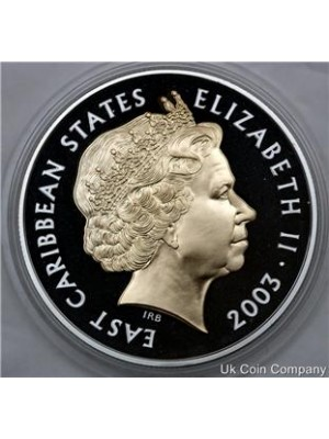 2003 East Caribbean States Coronation Anniversary $10 Silver Proof Coin