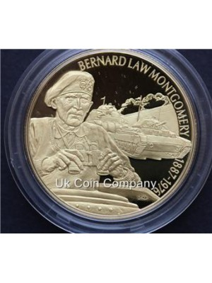 2003 east caribbean states Bernard Montgomery 24k gold plated piedfort $2 dollar coin
