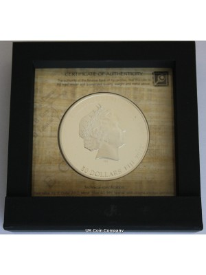 2012 Fiji Egyptian Jewels Cleopatra Silver Proof $50 Fifty Dollars Coin, Low Issue Limit Of 999