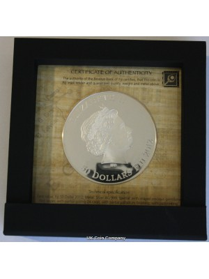 2012 Fiji Egyptian Jewels Collection Hatshepsut Silver Proof $50 Fifty Dollars Coin, Low Issue Limit Of 999