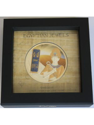 2013 Fiji Egyptian Jewels Ramesses II Silver Proof $50 Fifty Dollars Coin, Low Issue Limit Of 999
