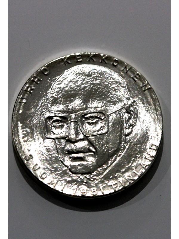 1981 Finland Silver Bu 50 Marka Coin