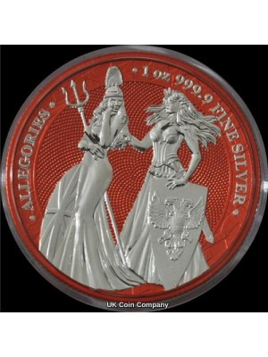 2019 Germania Britannia Allegories 1oz Silver Space Red 5 Mark Coin -  Mintage Of Only 250 Pieces