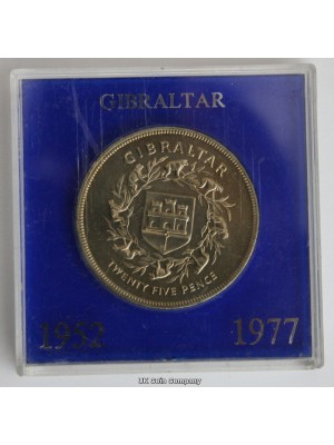 1977 Gibraltar Bu Crown Coin