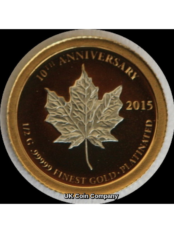 2005 - 2015 10th Anniversary Collection Half Gram Gold Platinum Edition 7 Coin Proof Like Set