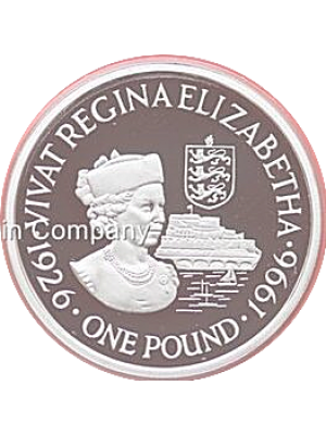 1997 guernsey elizabeth ii & philip sterling silver £1 one pound proof coin