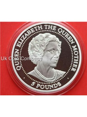 1999 Bailiwick Of Guernsey Silver Proof £5 Pound Coin