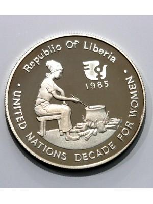 1985 Republic Of Liberia Silver Proof $10 Ten Dollar Coin