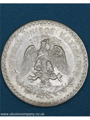 1944 mexico silver one peso coin