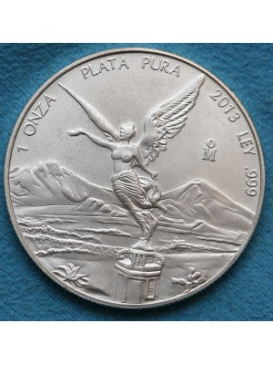 2013 Mexico 1oz One Ounce Fine Silver Libertad Coin