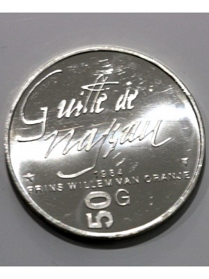 1984 Netherlands Silver Proof 50 Gulden Coin
