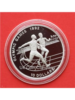 1991 niue olympic silver proof $10 ten dollar coin