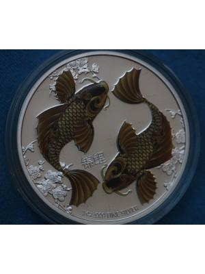 2012 Niue Silver Proof $2 coin Feng Shui Koi
