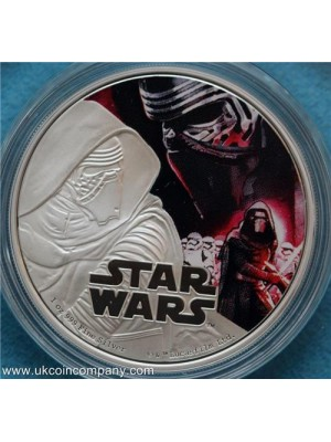 2016 star wars niue Kylo Ren silver proof $2 coin boxed with cert  - official lucas film licenced coin