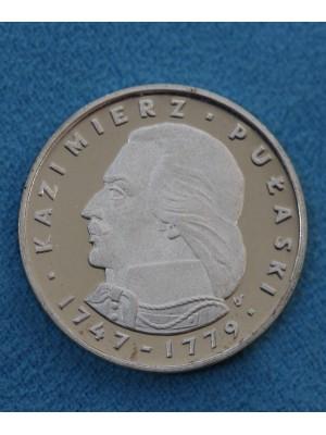 1976 Poland Silver 100 Zlotych Proof Coin KaZimierz Pulaski