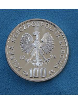 1979 Poland Silver 100 Zlotych Proof Coin Henryk Wieniawski