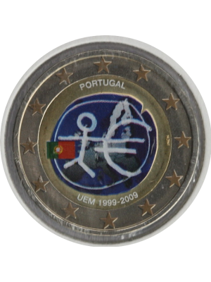 2009 Portugal Coloured 2 Euro Coin