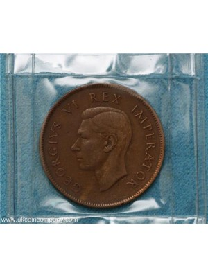 1941 South Africa George VI One Penny Coin