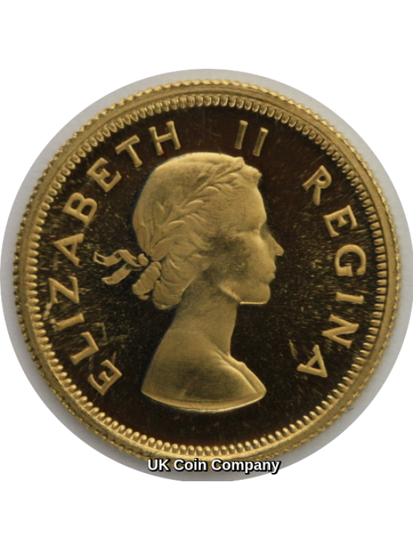 1953 South Africa Queen Elizabeth Gold Proof 1/2 Pound Coin