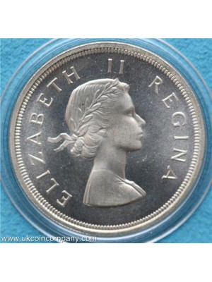 1957 south africa elizabeth II silver 5 shilling coin