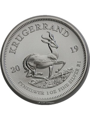2019  South Africa 1 oz Silver Krugerrand Uncirculated Coin