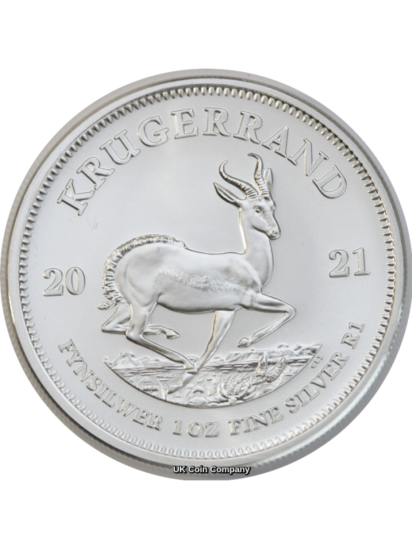 2021  South Africa 1 oz Silver Krugerrand Uncirculated Coin Brand New