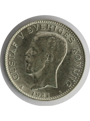 1941 Sweden Silver 1 Krona Coin Uncirculated