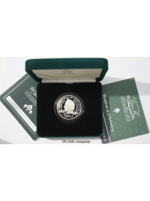 2000 royal mint queen mother silver proof piedfort £5 crown coin