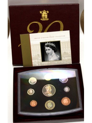 2002 Royal Mint Uk Decimal 9 Coin Proof Set Boxed