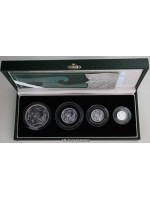 2003 Royal Mint Britannia Fine Silver Proof Four Coin Collection Boxed & Certificate