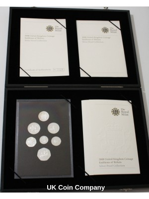 2008 United Kingdom Emblems Of Britain Silver Proof  Coin Collection