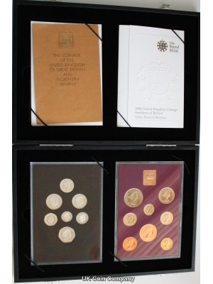 2008 Emblems Of Britain Silver Proof  Decimal Coin Set & 1970 United Kingdom Proof Coin Set