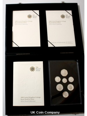 2008 Royal Shield Of Arms Silver Proof  Decimal Coin Set