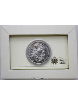 2010 Britannia Royal Mint 1 oz Fine Silver £2 Two Pounds Coin in Royal Mint Packaging