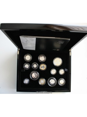 2010 United Kingdom Silver Proof 13 Coin Set includes London And Belfast Silver  £1 Coins