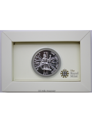 2011 Britannia Royal Mint 1 oz Fine Silver £2 Two Pounds Coin in Royal Mint Packaging