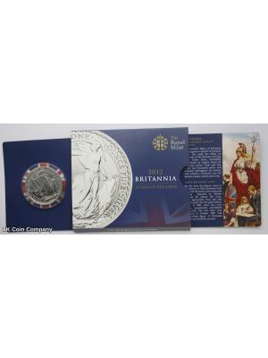 2012 Britannia Royal Mint 1 oz Fine Silver £2 Two Pounds Coin in Royal Mint Packaging