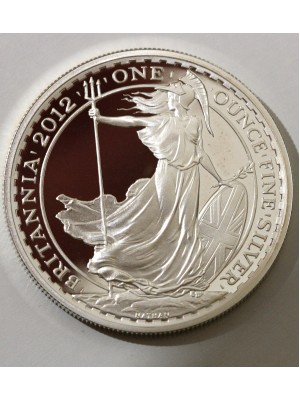 2012 Britannia 1 oz Silver Proof £2 Two Pound Royal Mint Coin Low Mintage