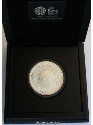 2012 Pegasus £10 Olympic Games Silver 5 oz Coin Issued By The Royal Mint