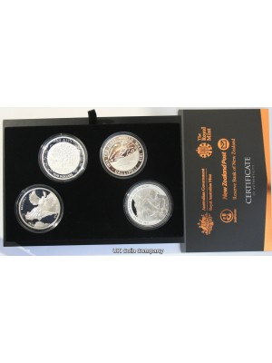 2015 Gallipoli Landings Centenary Royal Mint Silver Proof 4 Coin Set