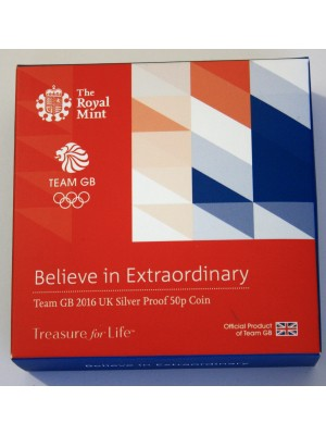 2016 Team GB Silver Proof 50p Coin with Royal Mint Error Cert