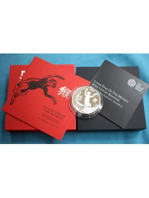 2016 Silver proof £2 Coin Lunar Year Of The Monkey Royal Mint Boxed - Very Low Cert Number