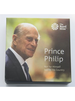 2017 Prince Philip £5 Silver Proof Piedfort Coin Celebrating A Life Of service Issued by The Royal Mint