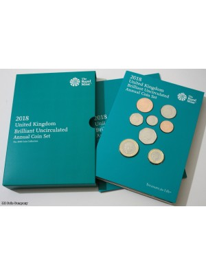 2018 United Kingdom Brilliant Uncirculated Annual Coin Set Issued By The Royal Mint