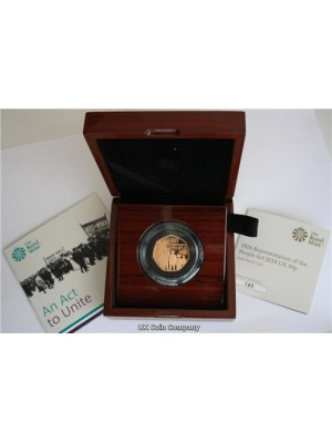 2018 Representation Of Peoples Act 50p Solid 22 Carat Gold Proof Royal Mint Coin Low Mintage Of Only 300